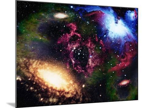 Galaxies and Nebulas of Outer Space-Randall Fung-Mounted Photographic Print