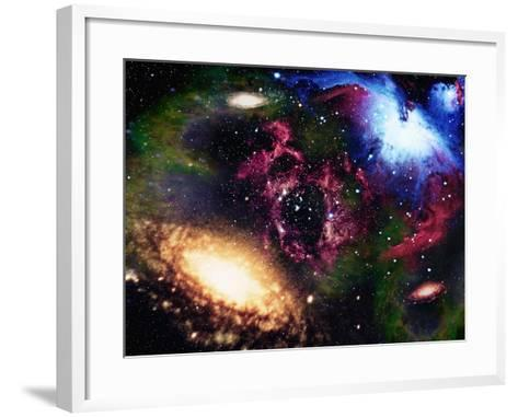 Galaxies and Nebulas of Outer Space-Randall Fung-Framed Art Print