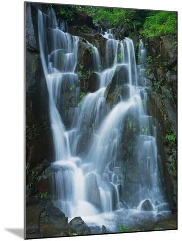 Waterfall Cascading over Rocks-Jagdish Agarwal-Mounted Photographic Print
