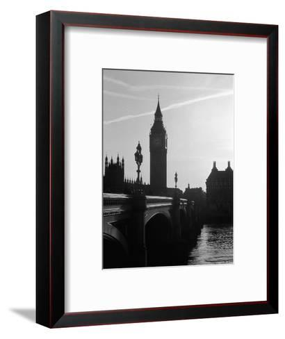 View of Big Ben from Across the Westminster Bridge-Jack Hollingsworth-Framed Art Print