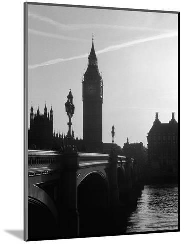 View of Big Ben from Across the Westminster Bridge-Jack Hollingsworth-Mounted Photographic Print