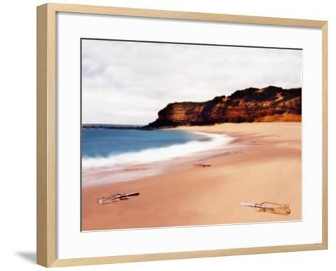 Messages in Bottles on Beach-Colin Anderson-Framed Art Print