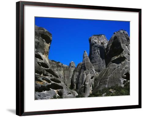 Rock Towers of Meteora-Perry Mastrovito-Framed Art Print