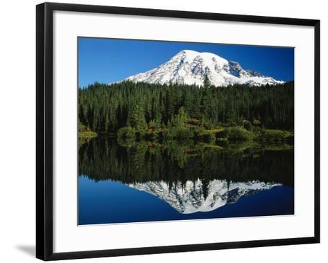Mt. Rainier Reflecting in Lake-Craig Tuttle-Framed Art Print