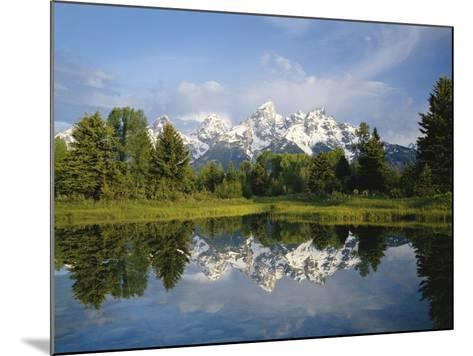 Beaver Pond with Teton Range in Distance-Craig Tuttle-Mounted Photographic Print