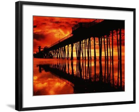 Study of Pier, Sky, and Water-Richard Cummins-Framed Art Print