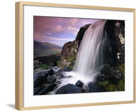 Waterfall and Jagged Rocks in the Irish Countryside-Richard Cummins-Framed Art Print