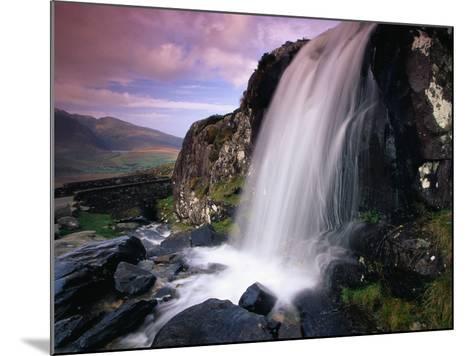 Waterfall and Jagged Rocks in the Irish Countryside-Richard Cummins-Mounted Photographic Print