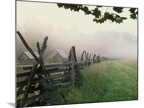 Morning Fog on a Mountain Farm-Gary W^ Carter-Mounted Photographic Print