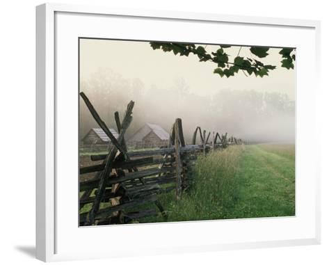 Morning Fog on a Mountain Farm-Gary W^ Carter-Framed Art Print