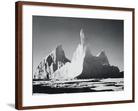 Iceberg Rising From Arctic Waters-Bettmann-Framed Art Print