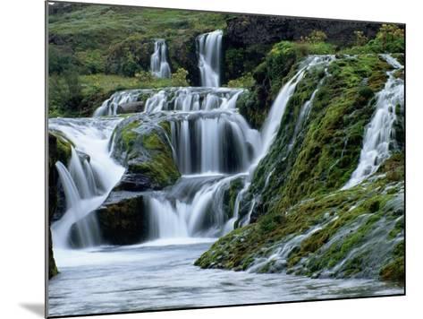 Waterfalls at Gjainfossar-Hubert Stadler-Mounted Photographic Print