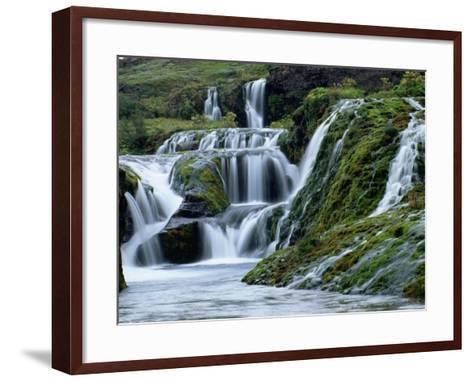 Waterfalls at Gjainfossar-Hubert Stadler-Framed Art Print