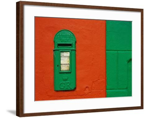 Bright Green Mail Slot-Richard Cummins-Framed Art Print