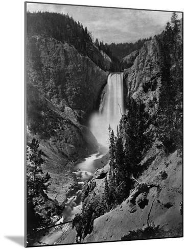 Lower Falls in the Grand Canyon of the Yellowstone--Mounted Photographic Print