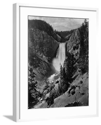 Lower Falls in the Grand Canyon of the Yellowstone--Framed Art Print