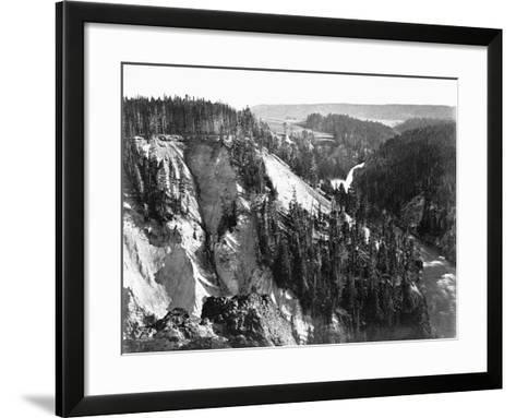 River Near Yellowstone National Park, 1871--Framed Art Print