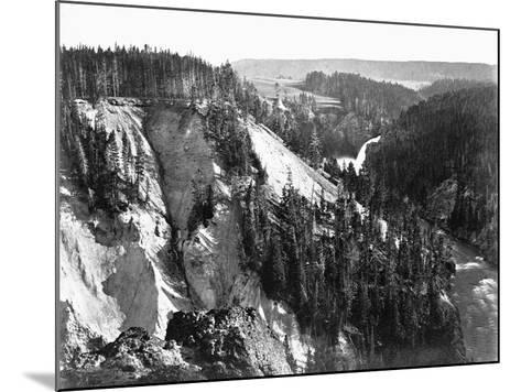 River Near Yellowstone National Park, 1871--Mounted Photographic Print