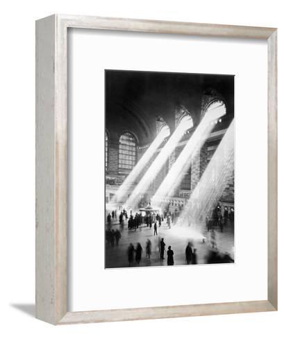 Sunbeams in Grand Central Station--Framed Art Print