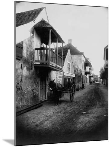 Street in St. Augustine, Florida--Mounted Photographic Print