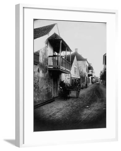 Street in St. Augustine, Florida--Framed Art Print