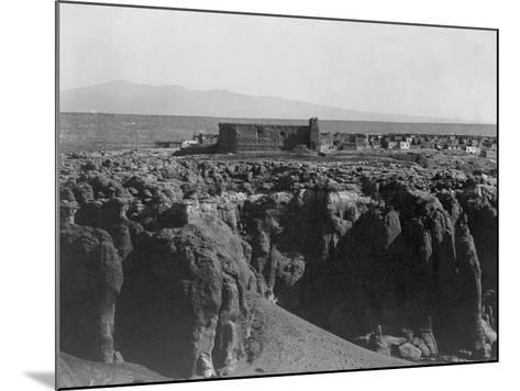 Acoma from the South-Edward S^ Curtis-Mounted Photographic Print