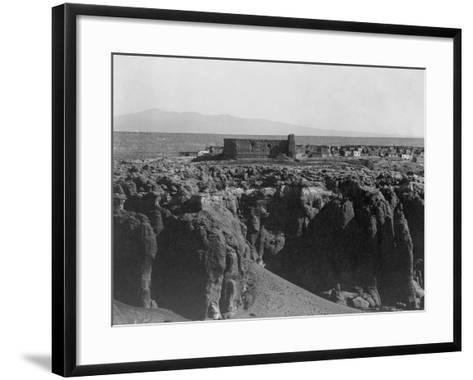 Acoma from the South-Edward S^ Curtis-Framed Art Print