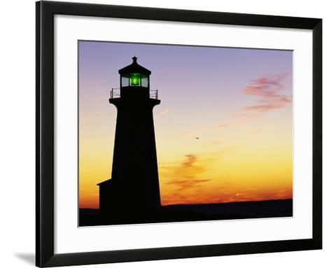 Peggy's Cove Lighthouse at Sunset-Paul Souders-Framed Art Print