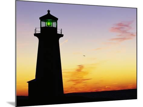 Peggy's Cove Lighthouse at Sunset-Paul Souders-Mounted Photographic Print