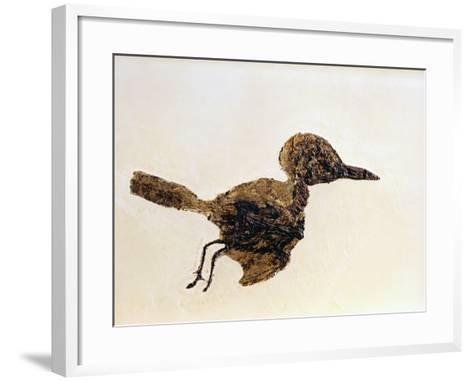 Fossil of Small Bird from Messel Site-Jonathan Blair-Framed Art Print