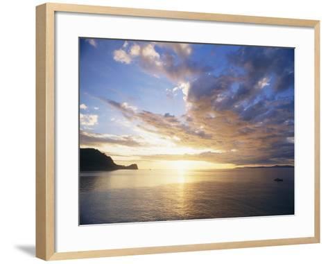 Boating Under Sunset in the Gulf of Nicoya-Macduff Everton-Framed Art Print