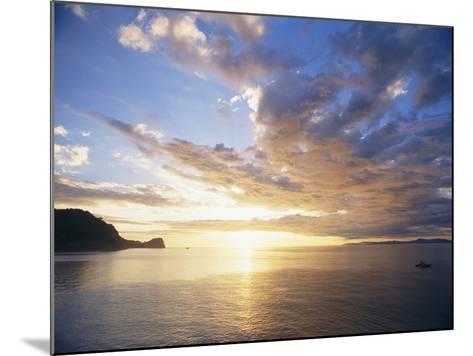 Boating Under Sunset in the Gulf of Nicoya-Macduff Everton-Mounted Photographic Print