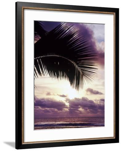 Sunset in Rarotonga-Craig Tuttle-Framed Art Print