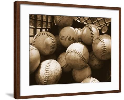 Crate Full of Worn Softballs-Doug Berry-Framed Art Print