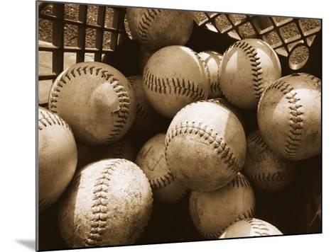 Crate Full of Worn Softballs-Doug Berry-Mounted Photographic Print