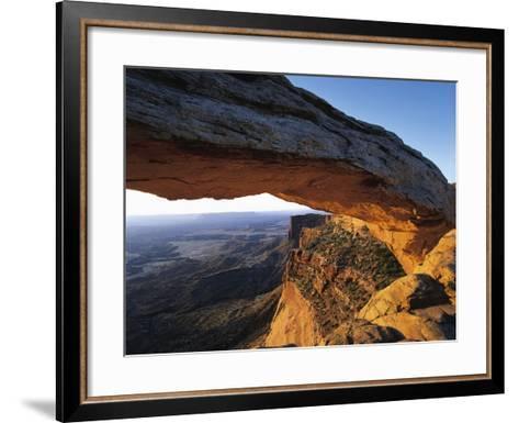 Mesa Arch Framing Landscape-Jim Zuckerman-Framed Art Print
