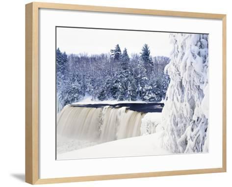 Tahquamenon Falls in Snow-Jim Zuckerman-Framed Art Print