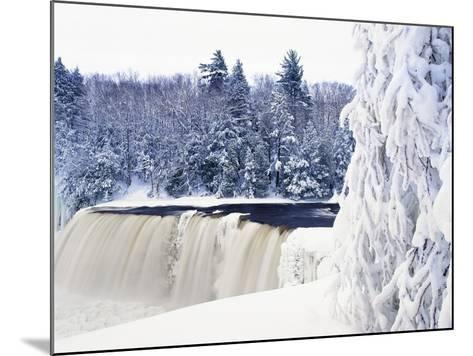 Tahquamenon Falls in Snow-Jim Zuckerman-Mounted Photographic Print