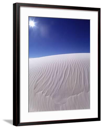 Sun Shining on Desert Sand-Jim Zuckerman-Framed Art Print