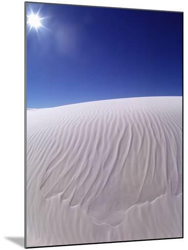 Sun Shining on Desert Sand-Jim Zuckerman-Mounted Photographic Print