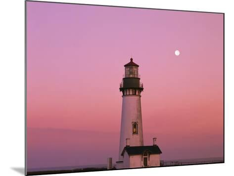 Lighthouse by Beach at Dusk-Craig Tuttle-Mounted Photographic Print