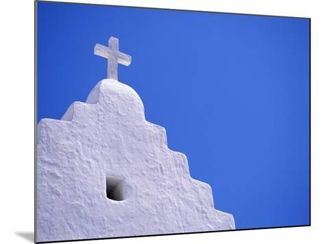 Old Church in Mikonos-David Ball-Mounted Photographic Print