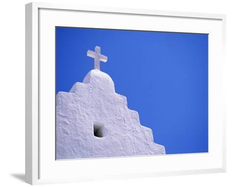 Old Church in Mikonos-David Ball-Framed Art Print