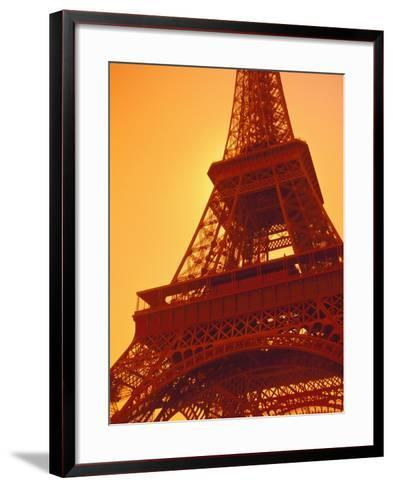 Eiffel Tower Against Sky-Lance Nelson-Framed Art Print