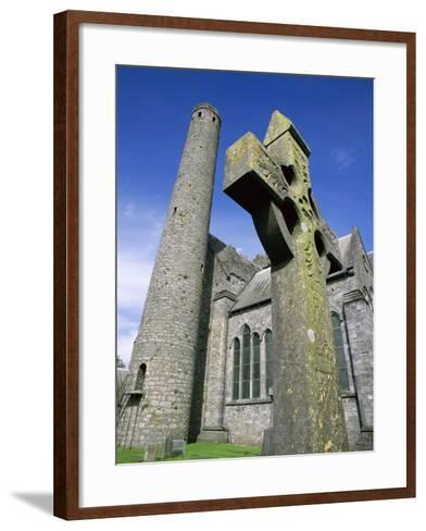 St. Canice's Cathedral and Round Tower-Richard Cummins-Framed Art Print