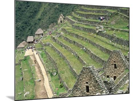 Terraced Fields at Machu Picchu-Dave G^ Houser-Mounted Photographic Print