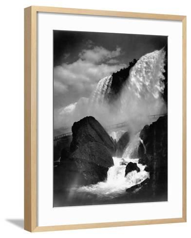 Niagara Falls from the Cave of the Winds--Framed Art Print