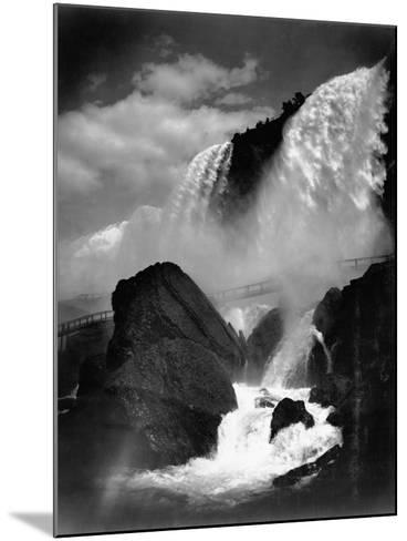 Niagara Falls from the Cave of the Winds--Mounted Photographic Print