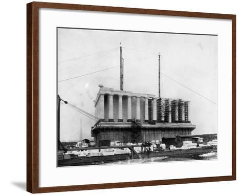 Construction of the Lincoln Memorial--Framed Art Print