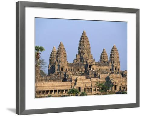Central Towers of Angkor Wat, Cambodia-Kevin R^ Morris-Framed Art Print